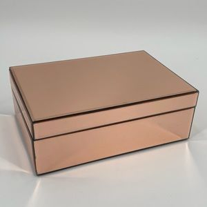 Pink Mirrored Jewelry Box